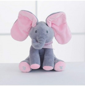 Elefant din plus Peek-A-Boo Roz