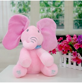 Elefant din plus Peek-A-Boo roz-B151