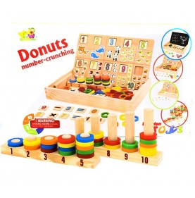 Tablita multifunctionala Montessori Model Donuts