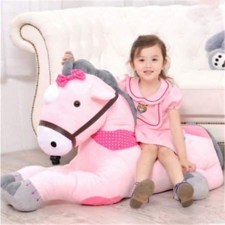Unicorn din plus roz 100 CM