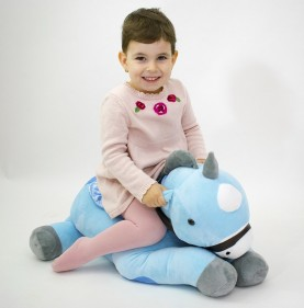 Unicorn din plus albastru 70 CM