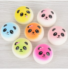Squishy Breloc Panda Colorat